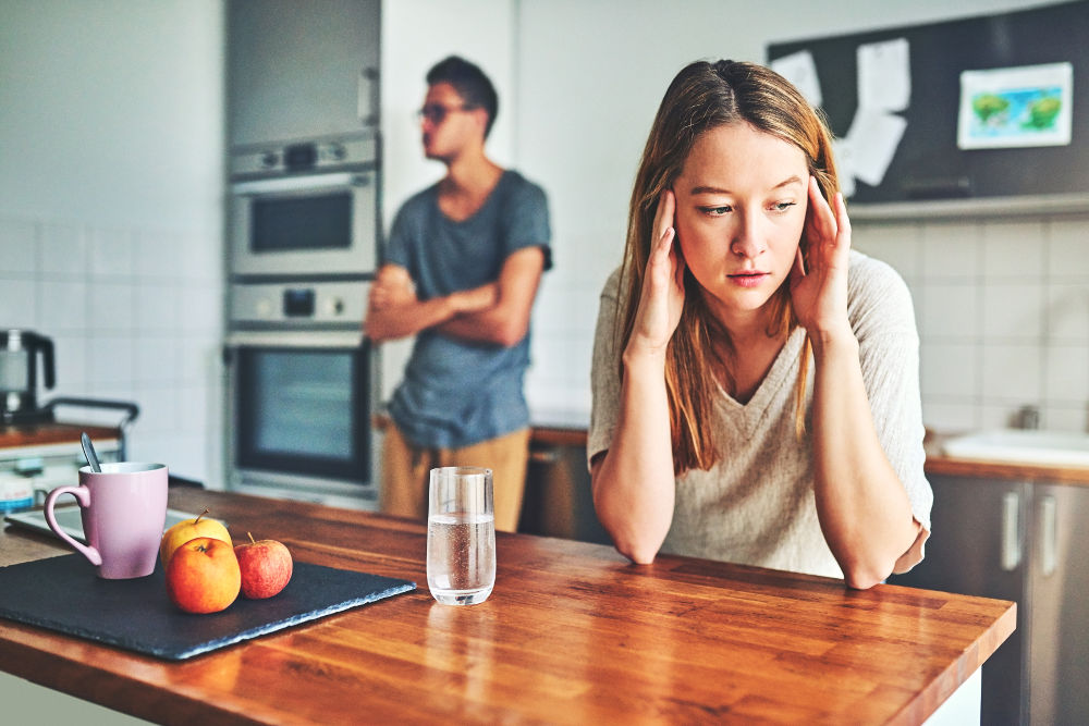 Frustrated young couple